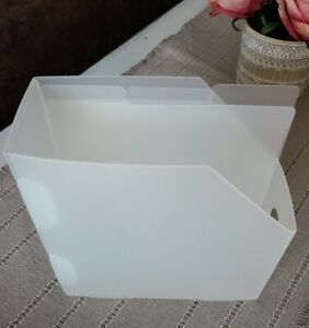6x6 Cropper Hopper Vertical Paper Organizer Holder Scrapbooking 3 dividers