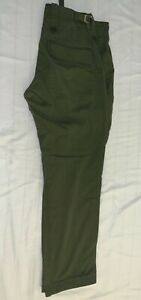 BRITISH ARMY OLIVE GREEN TROUSERS USED OLD STYLE SIZE 80 88 104