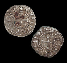 CRUSADERS. Principality of Achaea and Duchy of Athens, Denier Tounois, Lot of 2