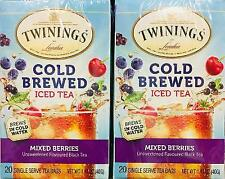 2Pk Twinings' Cold Brewed Iced Tea Mixed Berries  *~* FAST FREE SHIPPING ! *~*