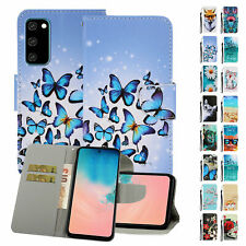 For Samsung Galaxy Note 10/S10+ Cute Pattern Flip Card Pocket Stand Case Cover