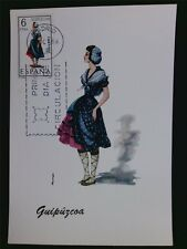 SPAIN MK 1968 COSTUMES GUIPUZCOA TRACHTEN MAXIMUMKARTE MAXIMUM CARD MC CM c6027