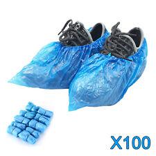 100er Einweg Überschuhe Einmal Überzieher Schuhüberzieher Shoe Cover Blau
