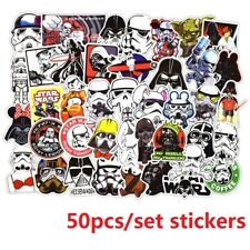 50pcs Star Wars Darth Vader Stickers Decal Skateboard Luggage Laptop Car Vinyls