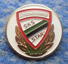 STAR STARACHOWICE POLAND FOOTBALL FUSSBALL BASKETBALL 1980's GOLD PIN BADGE