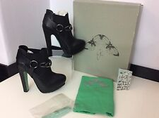 Chloe Green For TOPSHOP New  Black Leather ankle boots Size 38 Uk 5  RRP£150