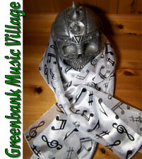 Scarf Musical - White Music Long - novelty gift idea
