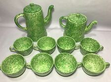 Stangl Pottery Green Caughley Coffee Tea Set 6 Cups - Tiffany & Co