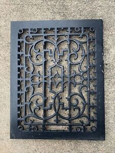 Antique Victorian Ornate Cast Iron Heater Wall Grate