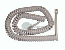 Panasonic KX-T Phone Coil Curly Cord 12' Foot Length, Pearl Grey