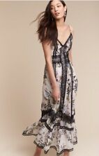 NEW $695 BHLDN Nicholas Siobhan Dress Size 4 Floral Silk Maxi