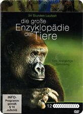 Große Enzyklopädie der Tiere - 12 DVD Metallbox NEU Doku 16 Themen 34St