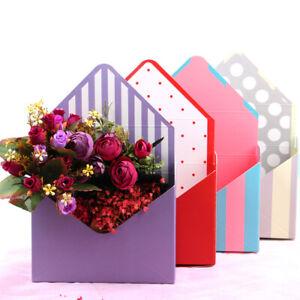 UK Romantic Envelope Flower Paper Holder Box Bouquet Florist Pack Supply Boxes