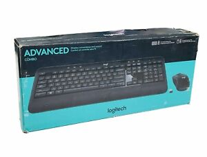 Logitech Advanced Combo Wireless Keyboard and Mouse 920-008701 Works Perfect