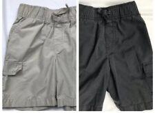 2 Pair Boys Jumping Beans Size 3T Elastic Waist Drawstring Shorts Khaki & Gray