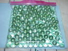 Lot of 50 Vintage Green Railroad Stop Sign Lake Sea Glass Cat Eye Marble