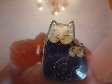 VINTAGE CAT PIN--COSTUME-- DOUBLE CAT--