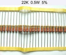 22K  1W  5% Carbon Film Resistor,  15 Piece