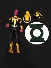 DC Comics Blackest Night SINESTRO Figure! Loose, Complete, Displayed Only! RARE!