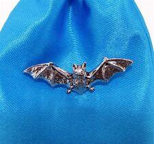 Pewter Bat Pin Badge