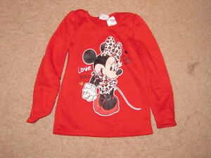 Girls Toddler Disney Red Minnie Mouse Top (4T)