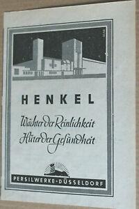 Henkel. Persilwerke. Original-Werbeanzeige 1949 Reklame Werbung. Düsseldorf.