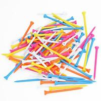 100Pcs 100mm Height Mixed Color Plastic Wooden Golf Tees Tee Training Aids
