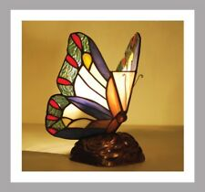 Butterfly Stained Glass Tiffany Style Table Lamp Bedside Table Lamp Brand New