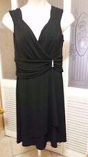 SCARLETT LADIES SEXY BLACK DRESS - SIZE 14W