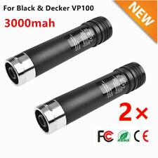 2× 3.6V 3.0Ah NiMH Battery for Black & Decker VersaPak VP100 VP110 VP105 VP130