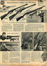 1959 ADVERT Toy Thunderburp Machine Gun Daisy Rocket Command Cork Pop Cheyenne