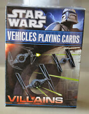STAR WARS VILLAINS VEHICLES PLAYING CARDS BRAND NEW AND SEALED
