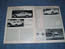 1965 Alfa Romeo GTZ Vintage Drive Report Article