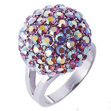 "Park Lane ""PARTAY"" RING w/ Swarovski Aurora Borealis Crystals -  Sz 9 - Nice!"