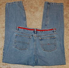 Womens JEANS TOMMY HILFIGER Red Band at Waist Blue Denim 10