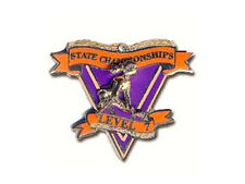 State Championships Level 7 Gymnastics Lapel Pin - Congratulations