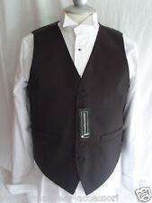 "Silk-Mens Waiters/Wedding BLACK Waistcoat 8XL =56""=140cm Chest-P&P 2UK>1st Class"