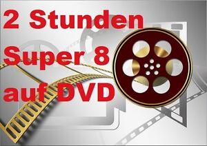 2 STUNDE SUPER 8 auf DVD DIGITALISIEREN Filmbetrachter Kopieren Filmtransfer