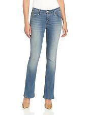Levis Mid-Rise Skinny Bootcut Jeans Womens Button-Flap Back Pocket Stretch Denim