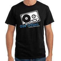 Old School Analog Audio Power Club Kassette cassette Sprüche Geschenk T-Shirt