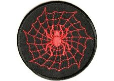 """(A35) Red SPIDER with Web 3"""" iron on patch (2716) Biker Vest Cap Hat"""