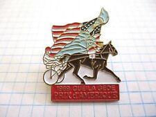 HORSES RACE PIN BADGE 1987 OURASI PRIX D'AMERIQUE VINTAGE PINS 5