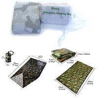 Impermeable Reutilizable Saco de dormir emergencia Supervivencia térmica Camping