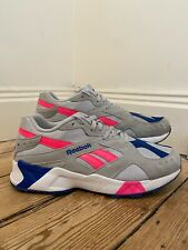 Mens Reebok Aztrek Hexalite UK11 EU45.5 Grey Neon Pink 90s Dad Puma Trinomic