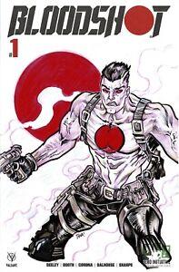 HERO INITIATIVE BLOODSHOT 50 PROJECT Original cover: TANA FORD CGC 9.4