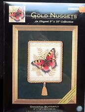 Dimensions Gold Nugget GRACEFUL BUTTERFLY Cross Stitch KIT Sealed #35058