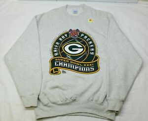 NOS Vtg 1997Green Bay Packers Crewneck Sweatshirt Super Bowl XXXI Men's 2XL