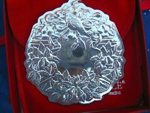NEW• Towle 1991 1st Ed 'PARTRIDGE...' WREATH 12 Days Sterling Christmas Ornament