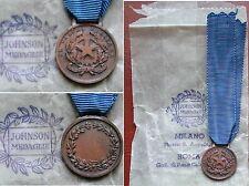 MIGNON MEDAGLIA VALORE MILITARE BRONZO REPUBBLICA ITALIANA SACCHETTO - JOHNSON 1