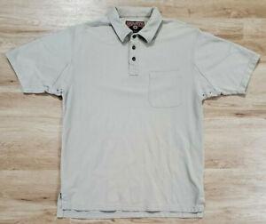 Duluth Trading Mens Polo Size Large Free Swingin Pocket Tan